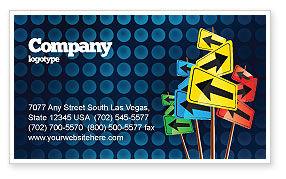 Business Concepts: Verschiedene richtungen Visitenkarte Vorlage #05114