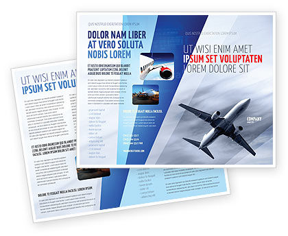 Cars/Transportation: Air Vessel Brochure Template #05115