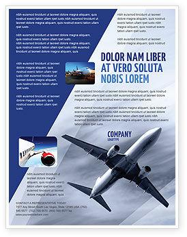 Cars/Transportation: Air Vessel Flyer Template #05115