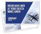 Cars/Transportation: Air Vessel Postcard Template #05115