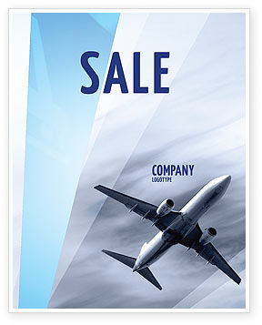 Air Vessel Sale Poster Template, 05115, Cars/Transportation — PoweredTemplate.com