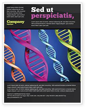 DNA Spirals Flyer Template, 05117, Medical — PoweredTemplate.com
