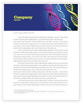 Medical: DNA Spirals Letterhead Template #05117