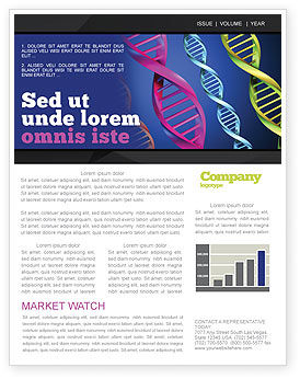 DNA Spirals Newsletter Template, 05117, Medical — PoweredTemplate.com