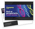 Medical: DNA Spirals Postcard Template #05117