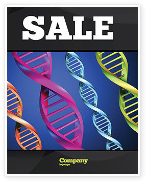 DNA Spirals Sale Poster Template