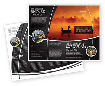 Recreational Fishing Brochure Template, 05122, Nature & Environment — PoweredTemplate.com
