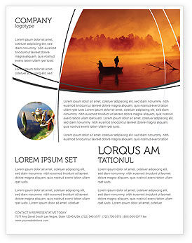 Nature & Environment: Recreational Fishing Flyer Template #05122