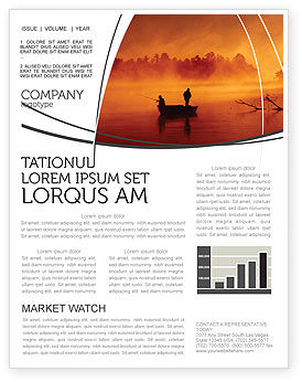 Nature & Environment: Recreational Fishing Newsletter Template #05122