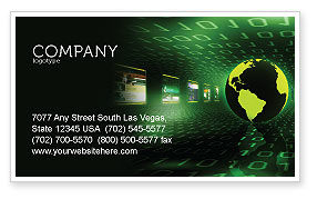Technology, Science & Computers: Web Presence Business Card Template #05124