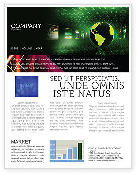 Web Presence Newsletter Template, 05124, Technology, Science & Computers — PoweredTemplate.com