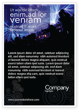 Art & Entertainment: Music Show Ad Template #05126
