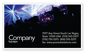 Art & Entertainment: Music Show Business Card Template #05126