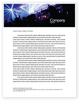 Art & Entertainment: Music Show Letterhead Template #05126