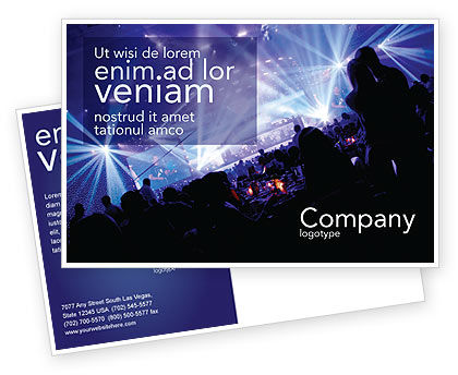 Music Show Postcard Template, 05126, Art & Entertainment — PoweredTemplate.com