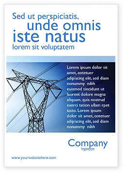 Careers/Industry: Power Lines Mast Ad Template #05131