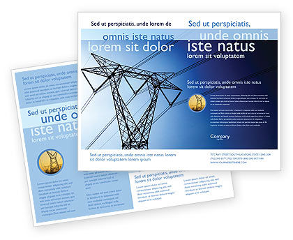 Power Lines Mast Brochure Template