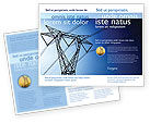 Careers/Industry: Power Lines Mast Brochure Template #05131