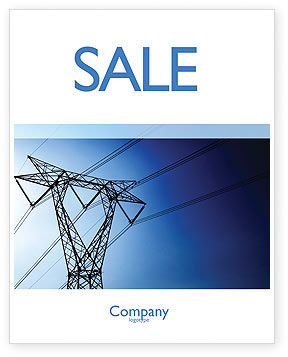 Power Lines Mast Sale Poster Template, 05131, Careers/Industry — PoweredTemplate.com