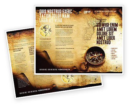 Careers/Industry: Old Map Brochure Template #05132