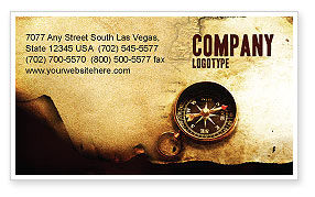 Careers/Industry: Old Map Business Card Template #05132