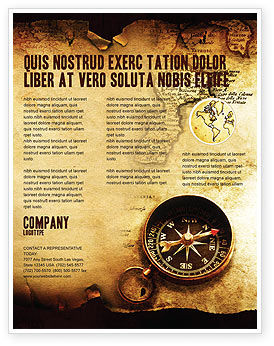Careers/Industry: Old Map Flyer Template #05132