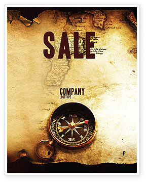 Old Map Sale Poster Template