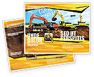 Utilities/Industrial: Excavator Brochure Template #05136