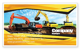Excavator Business Card Template, 05136, Abstract/Textures — PoweredTemplate.com