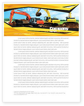 Excavator Letterhead Template, 05136, Abstract/Textures — PoweredTemplate.com