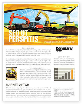 Excavator Newsletter Template, 05136, Abstract/Textures — PoweredTemplate.com