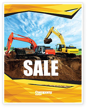 Excavator Sale Poster Template, 05136, Abstract/Textures — PoweredTemplate.com