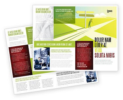 Consulting: Crossroad Sign Brochure Template #05137