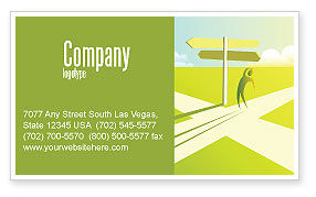 Consulting: Crossroad Sign Business Card Template #05137