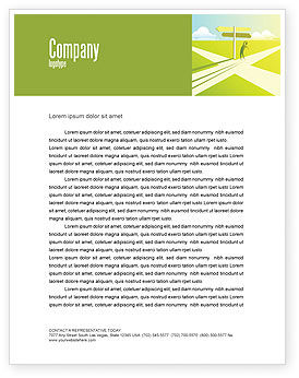 Consulting: Crossroad Sign Letterhead Template #05137