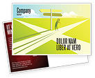 Consulting: Crossroad Sign Postcard Template #05137