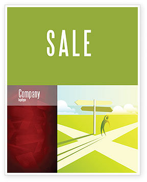 Crossroad Sign Sale Poster Template, 05137, Consulting — PoweredTemplate.com