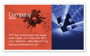 Last Puzzle Needed Business Card Template