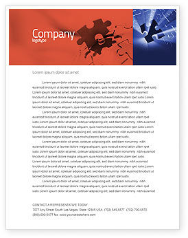 Business Concepts: Last Puzzle Needed Letterhead Template #05143