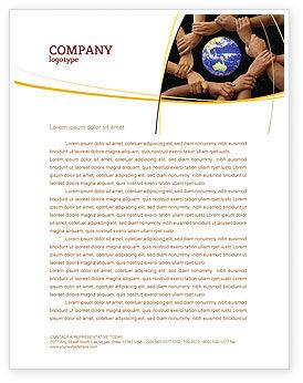 Global: Modèle de Papier à en-tête de se tenir debout #05147