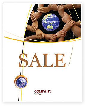 Holding Hands Sale Poster Template, 05147, Global — PoweredTemplate.com