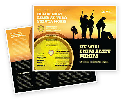 Spec Ops Brochure Template, 05148, Military — PoweredTemplate.com