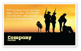 Military: Spec Ops Business Card Template #05148