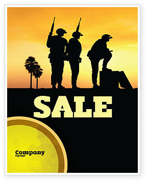 Spec Ops Sale Poster Template, 05148, Military — PoweredTemplate.com