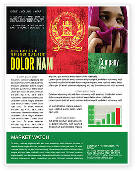 Afghanistan Newsletter Template, 05152, Flags/International — PoweredTemplate.com