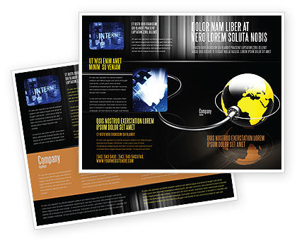Plugged In Brochure Template, 05153, Global — PoweredTemplate.com