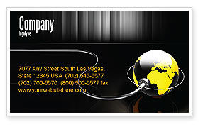 Global: Plugged In Business Card Template #05153
