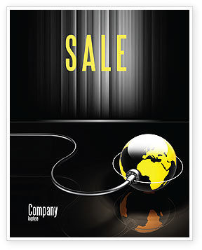Plugged In Sale Poster Template, 05153, Global — PoweredTemplate.com