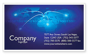 IP Address Business Card Template, 05155, Telecommunication — PoweredTemplate.com
