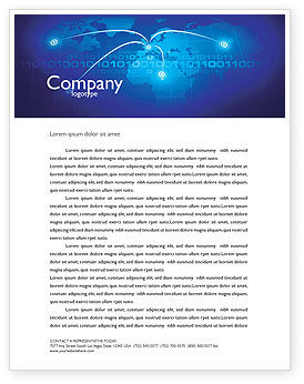 Telecommunication: IP Address Letterhead Template #05155